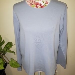 Light blue long sleeved tee. Size L